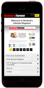 Local Business on Mobile - www.boomersforever.mobi